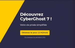 CyberGhost propose des offres intéressantes