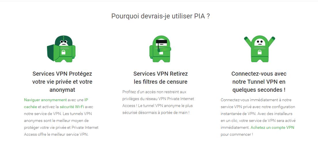 Les raisons pour lesquelles il faut choisir Private Internet Access