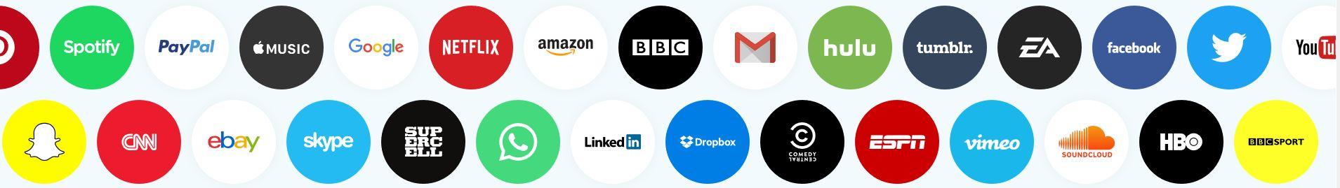 Les différents services du VPN hotspotshield