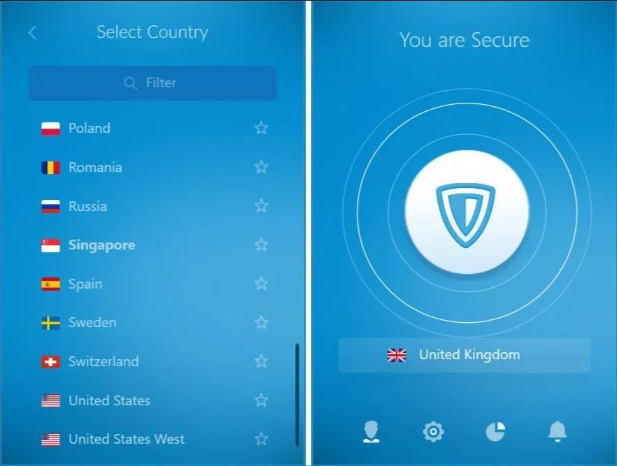 Voir une version mobile du VPN ZenMate